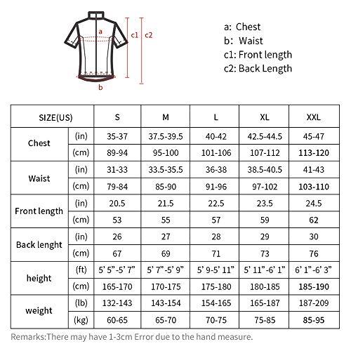 TEET Maillot de ciclismo de manga corta para hombre (talla: S; color:...