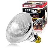 LUCKY HERP 100 Watt UVA UVB Mercury Vapor Bulb Self-Ballasted UV Heat Lamp/Bulb/Light for Reptile and Amphibian(100W Coated)