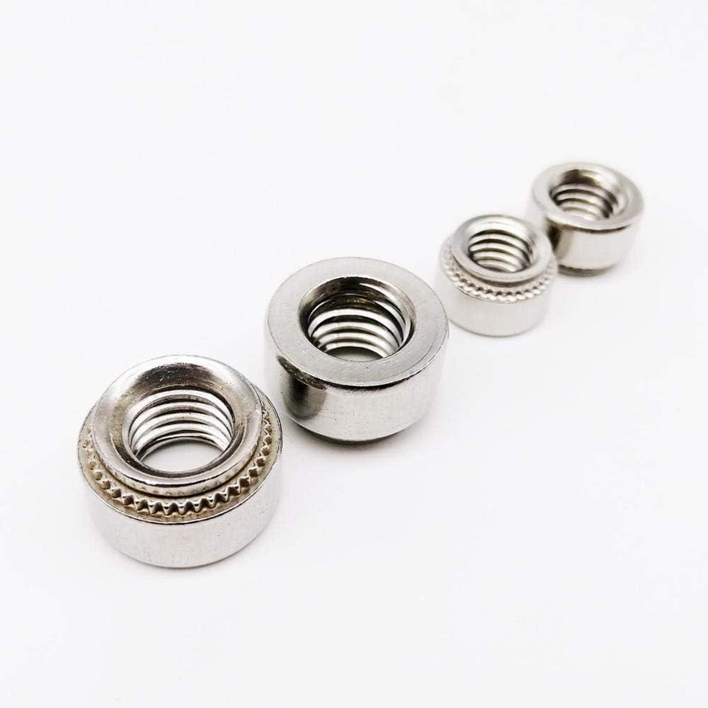QINGRUI Tools for reparing 10pcs M2 M2.5 M3 M4 M5 M6 M8 304 Stainless Steel Metric Thread Self-Clinching Nut Insert Rivet Press-Fit Nutsert Easy to use. Size : M2 1 slab 1mm