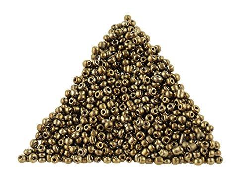 Rocailles Perlen in antik bronzefarben 2 mm 500 Stück von Vintageparts, DIY-Schmuck, Toho, Tohobeads, metallic
