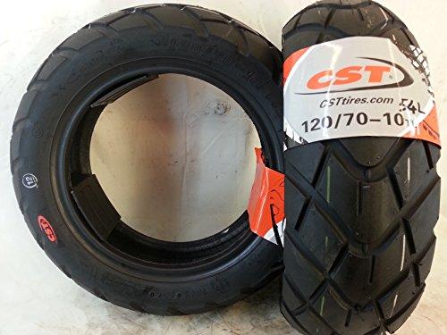 1 pneu 120/70-10 54 L Tubless renforcé CST CM519 Vespa Zip 2000