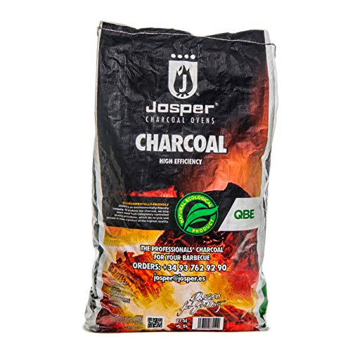 Josper - All Natural Restaurant Quality - QBE White Quebracho - Premium Lump Hardwood Charcoal for Grilling - 9,5 kg (20.9 lbs) Bag