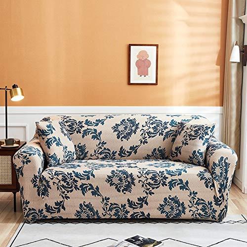 WXQY Funda de sofá elástica para Sala de Estar Funda de protección para sofá de Esquina en Forma de L Funda Protectora para sofá con protección para Mascotas con Todo Incluido A16 2 plazas