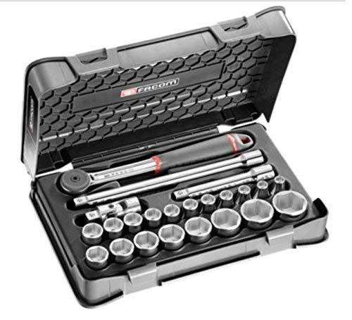 'Facom S.161–3P6Steckschlüsselsatz, 6kant, Silber, 1/2, Set 23-teilig