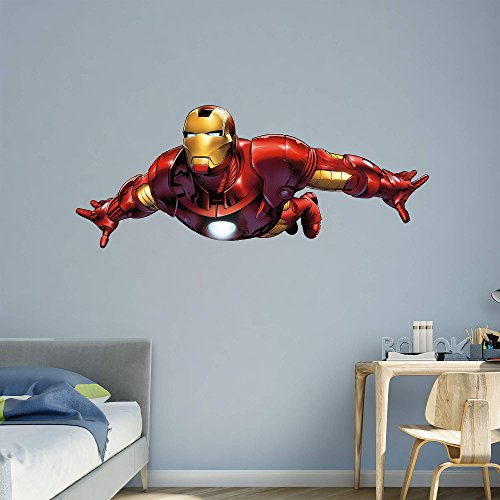 FATHEAD Iron Man: Flying-Avengers Assemble-Life-Size Officially Licensed Marvel Removable Wall Decal