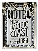 ビンテージカフェ サインボード ホテル(HOTEL/KS-SIARLHO)メッセージ看板 木製看板 案内看板 アメリカ看板 看板 アメリカ雑貨 カフェ