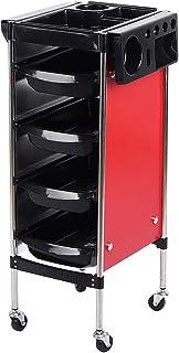 Carrinho de armazenamento, seguro para armazenamento de cabeleireiro com textura rígida, forte capacidade de rolamento par...