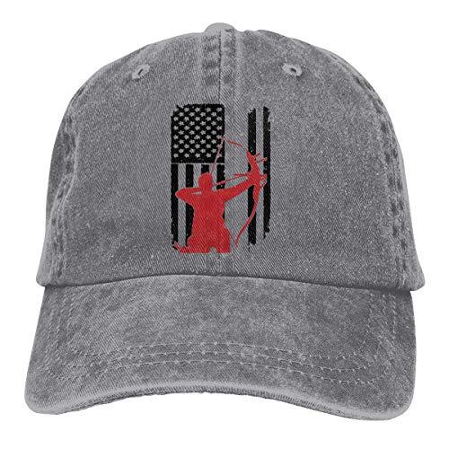 XCNGG Tiro con Arco Arco Caza Unisex Sombreros de Vaquero Deporte Sombrero de Mezclilla Gorra de béisbol de Moda Negro