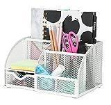EXERZ Tisch-Organizer/Schreibtisch Organisator/Schreibtisch Tidy/Stifthalter/Multifunktions -Organisator (EX348 Weiß)