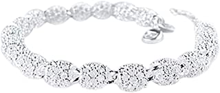 Aland Women's 925 Sterling Silver Hollow Chain Bracelet Charm Wrist Bangle Clasp Gift
