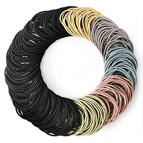 Kavya Haargummi Damen, 200 Stück Haarbänder Elastisch Stirnband, Zopfgummis Damen, Haargummi , Zopfgummi, Haargummi Set, Gummibänder für Mädchen Frauen Haarfrisuren
