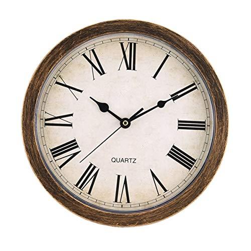 Dswe Caja de Almacenamiento de Reloj de Pared Retro de Estilo Europeo, decoración de Sala de Estar en casa, Caja de Almacenamiento Redonda Vintage única