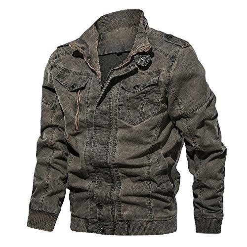 La primavera y el otoño delgado de los hombres de la solapa lavado de mezclilla abrigo grande chaqueta de hombre