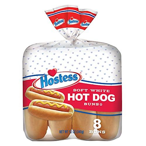 Hostess Hot Dog Buns, 8 Buns (Pack of 4)