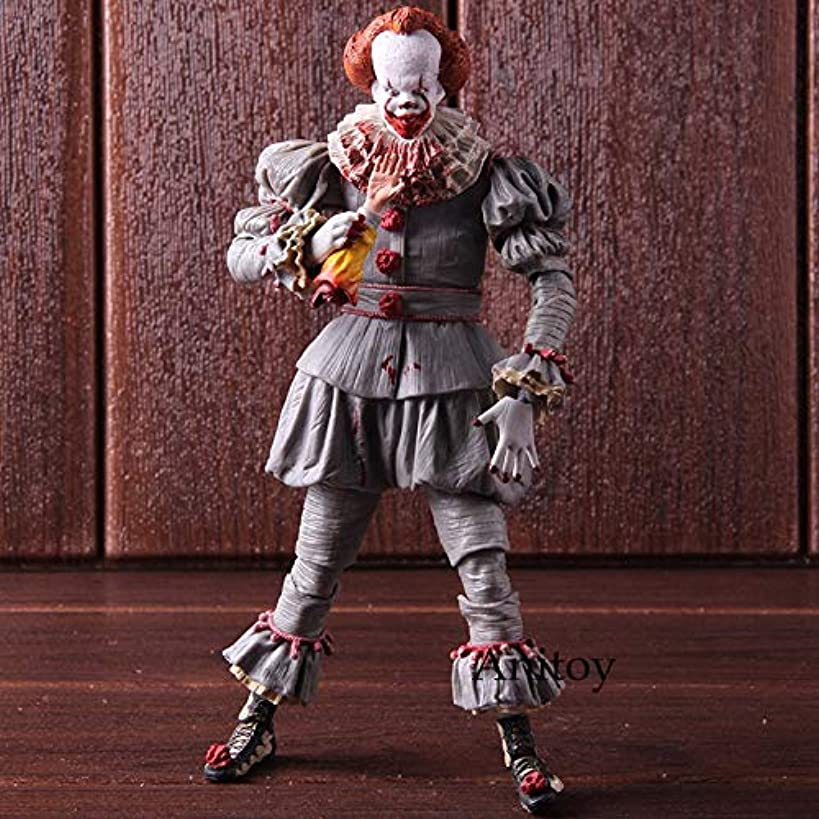PAPBI Pennywise Figure 7.5 inch Hot Toys IT 2017 Ultimate Scale Action Figures Horror Mini Model Doll Exclusive Toy Halloween Christmas Collectible Collectable Gifts Collectibles Gift for Kids Baby