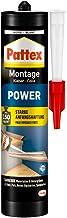 Pattex Montagekleber Power, Baukleber mit starker Anfangshaftung, Kraftkleber für..