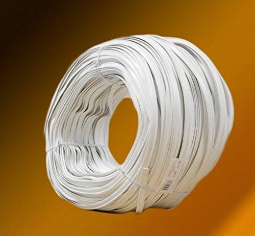 Keder mit Fahne - 10 Meter PVC - Kederband 3 mm x 8 mm (Weiß)