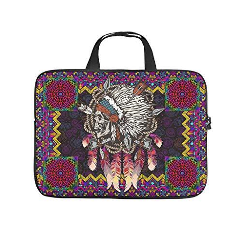 Native Skull Laptop Case Laptop Gifts for Men Women White 10inch