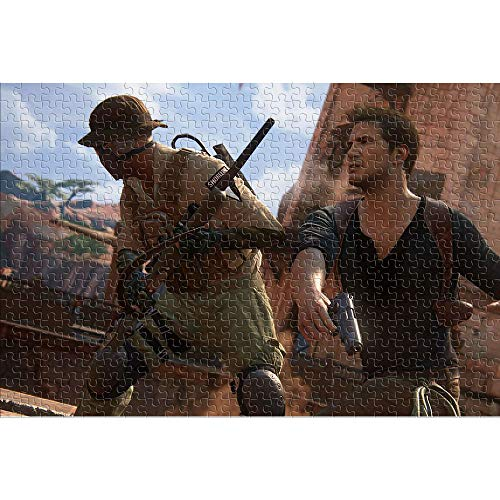 CHDBB Jigsaw Puzzles 1000 Stück für Erwachsene Nathan Drake Impossible Puzzle Uncharted 4: The End of a Thief Herausforderndes Puzzle für Kinder Game Home DIY Puzzle 38x26cm