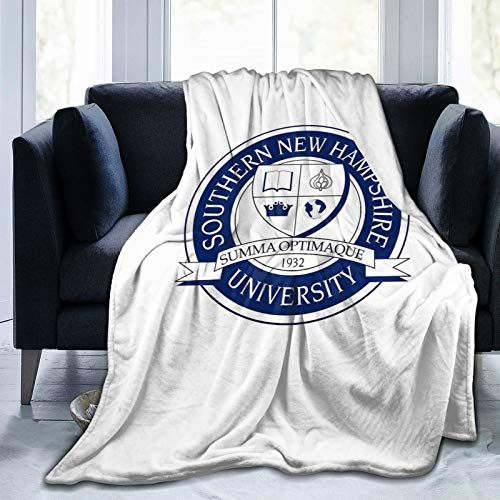 """Needlove Southern New Hampshire University (SNHU) Throw Blanket Suitable Ultra Soft Weighted Bedding Fleece Blanket for Sofa Bed Office 60""""x50"""" Travel Multi-Size for Adult"""