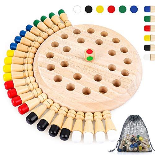 Peradix Memory Match Stick Schach,Memory Schach Holz,hölzernes gedächtnis-Schach,gedächtnis-Schach,schachspiel lernspielzeug,gedächtnisschach,Schachbrett Spielzeug,gedächtnis-schachspiel