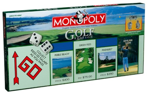 Golf 2000 Collector's Edition Monopoly Board Game