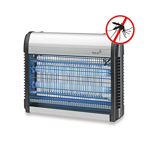Lampe Anti-moustique ZAP 20W PLEIN AIR Ultra Violet Surfaces 80 m² Gris métal Tiroir récupérateur