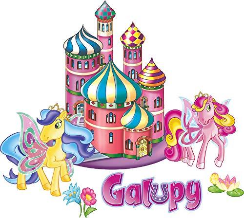 CRAZE GALUPY Wandtattoo Pferd - in verschiedenen Größen erhältlich - Made in Germany - Türme Schmetterling Pony Hufeisen Einhorn Mädchen Kinderzimmer Wandaufkleber Wandsticker (21cm x 24cm)
