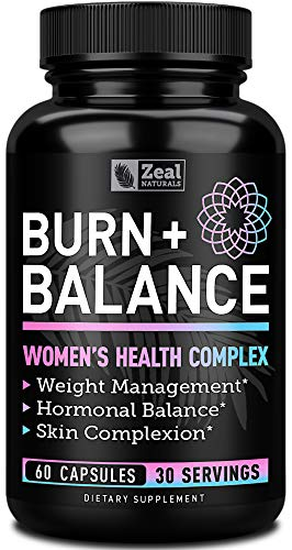 Weight Loss Pills for Women + Daily Balance Vitamins (Iron, Vitamin D, Setria, Folate,+) Premium Diet Pills for Women + Womens Multivitamin with Iron, D & B Vitamins & Hormone Balance for Women