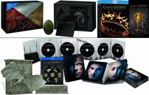 Game of Thrones - Blu-ray - Limited Edition / Sammleredition / Gift Set - Staffel 1 - Giftset mit Drachenei, Staffel 2 - mit Pin, Staffel 3 - in der Drachenbox