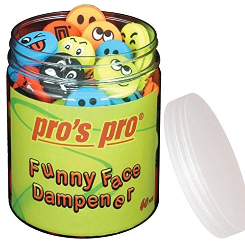 Pro 's Pro Funny Face Pack de 60 Antivibración para raquetas