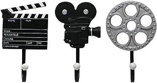 3 pièces/Ensemble Crochets muraux d'équipement de Film, Bobine de Film de Films Vintage, clapet et Crochet de Manteau Mura...