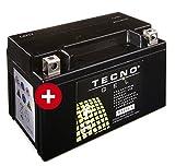 TECNO-GEL Motorrad-Batterie YTZ10S / YT10B-4 DIN 50901, 12V, 8,5 Ah, 151x87x94 mm inkl. Pfand
