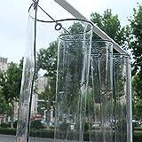 JXQ Lonas Transparentes de PVC Resistentes al Agua, Lona Tra