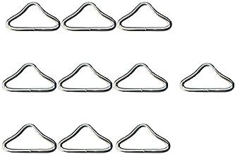 GARNECK 20Pcs Driehoek Ring Gesp Rvs String En Bandage Connector Trampoline Vervangende Onderdelen Voor Trampoline Mat Diy...