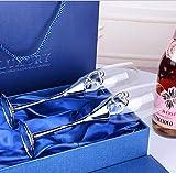 MOLLYNANA Copa champan Copa de Vino Equipo amigable Regalo de Boda Uso fácil Cristal