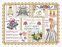 "Janlynn クロスステッチ 刺繍キット""ウェディングコラージュ "" Janlynn Counted Cross Stitch Kit,Wedding Collage Janlynn クロスステッチキット Wedding Collage [並行輸入品]"