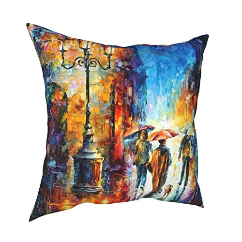 HXJIULI Human On Canvas Four Seasons Throw Pillowcase Home Decorative Square Cushion Cover Double-Sided Printing Cozy Throw Pillows Covers 12X12in