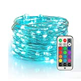 YIHONG Fairy String Lights USB Powered, 33ft Twinkle Lights with RF Remote, Color ChangeFiref…