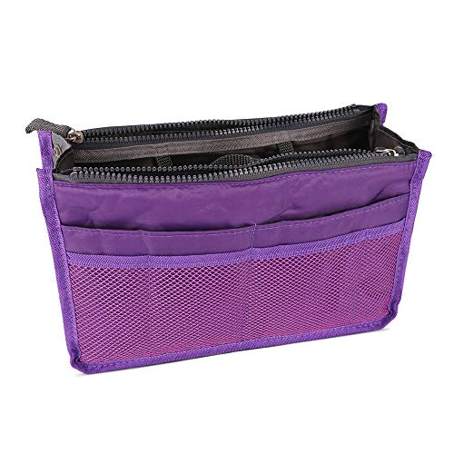 Ladies Large Handbag Organiser Liner - Purple