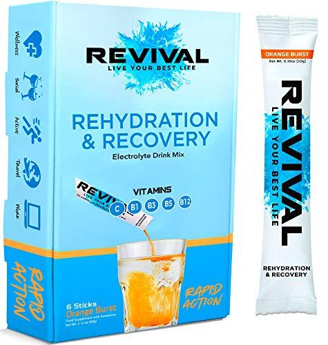Revival, réhydratation rapide :Poudre d'Électrolytes - Sachet...