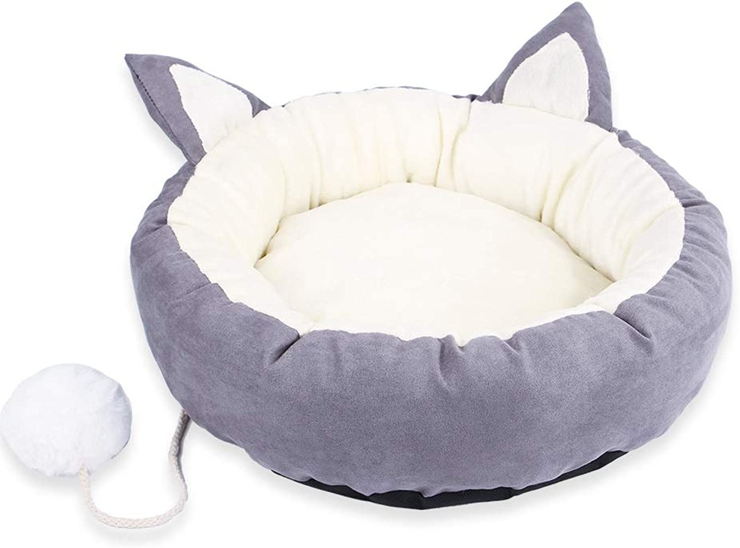 Dog Bed Donut Cat Bed, Faux Fur Dog Beds for Medium Small Dogs  Self Warming Indoor Round Pillow Cuddler