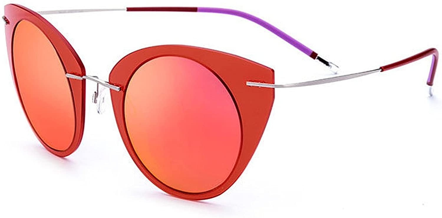 EYES Cat Eyes Design Women's Polarized Sunglasses Nylon Frame TAC Lens UV Predection Sunglasses for Driving Vacation Beach Outdoor Sunglasses Outdoor (color   Red)