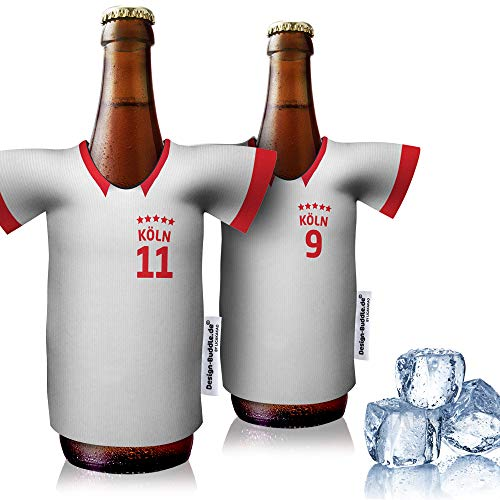 vereins-Trikot-kühler Home für FC Köln Fans | 2er Fan-Edition| 2X Trikots | Fußball Fanartikel Jersey Bierkühler by Ligakakao