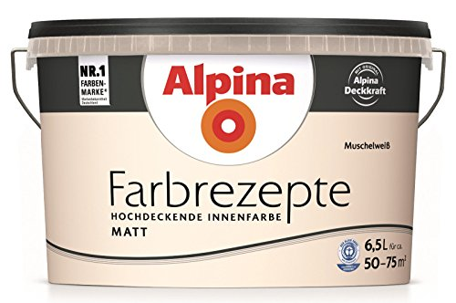 ALPINA Farbe Tim Mälzer Farbrezepte 6,5 l , Muschelweiß, Matt