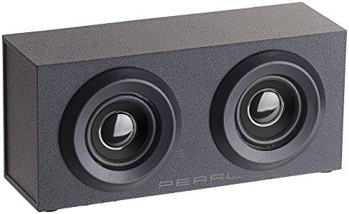 auvisio Stereo Lautsprecher: Mobiler Aktivlautsprecher im Holzgehäuse MSS-88.bt, Bluetooth, 6 Watt (Lautsprecher mit Bluetooth)