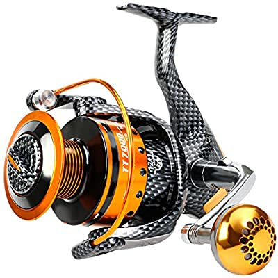 Sougayilang Fishing Reels- 12+1 BB, Light and Smooth Spinning Reels, Powerful Carbon Fiber Drag, Salt and Freshwater Fishing