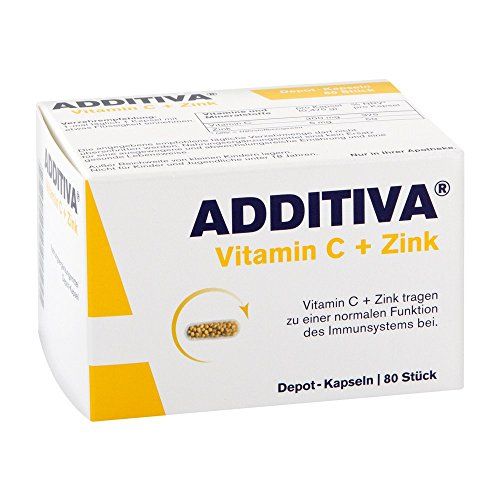 Additiva Vitamin C + Zink Depotkapseln,80St
