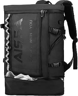 AISFAリュック メンズ リュックサック スクエア バックパック 31L防水17インチ PC ビジネス ラップトップバック USB充電ポート付き アウトドア山登 旅行