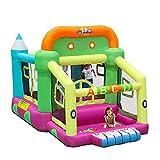 Daxiong Casa elástica niños inflables niños pequeños Castillo Inflable Cama elástica Interior casa traviesa pequeña,225x350x220cm